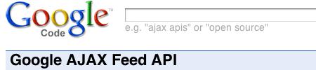 Google AJAX Feed API を使ってJavaScriptでサイトにRSSフィードを表示する方法