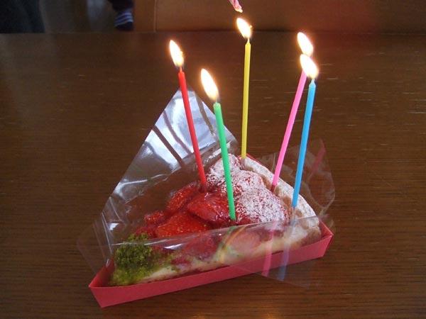 H姫の誕生日ケーキ