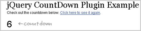 jQuery Countdown Plugin