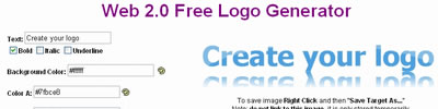 web 2.0 Logo Creator Online.